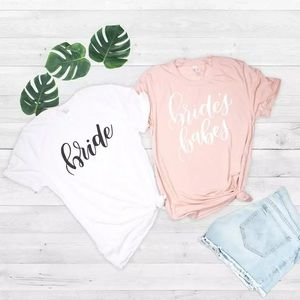 Tops - WHITE BRIDE'S BABES PINK T-SHIRT